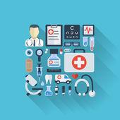 Antecedentes de la medicina — Vector de stock