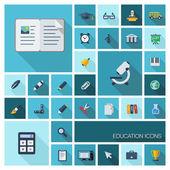 Símbolos de educación — Vector de stock