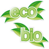 Eco and bio label — Stock Vector