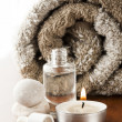 Stock Photo: Aromatherapy oil and candle