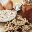 Stock Photo: Oat flakes cookies