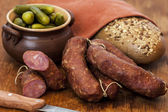 Homemade sausages — Stock Photo