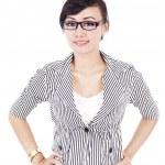 美しい若いアジア女性実業家 — ストック写真