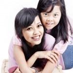Cheerful mom and her child — Stock Photo