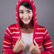 Cute female wearing sweater — Stock Photo