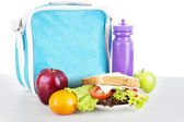 A packed school lunch — Stockfoto