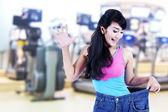 Asyalı kadın kilo verme — Stok fotoğraf