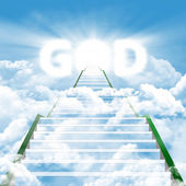Stairway to meet by the GOD — Stock Photo