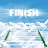 Steps to finish — Stock Photo