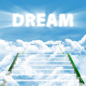 Steps to realize high dream — Stock Photo