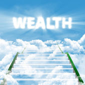 The steps to wealth — Stock Photo