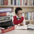 Student with lessons books — Stock Photo #12808542