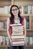 Preparing books for exams — Stock Photo