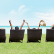 Relaxing on beach — Stock Photo #13119249