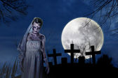Creepy zombie bride — Stock Photo