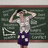 Stressed employee — Stock Photo