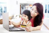 Internet shopping at home — Stock Photo