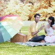 Love celebration on autumn day — Stock Photo