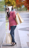 Chica de compra — Foto de Stock
