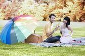 Celebración día de otoño de amor — Foto de Stock