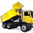 Stock Photo: Yellow Dump Truck