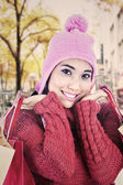 Sweet woman dressed for winter — Stock Photo