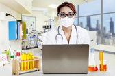 Portrait of female scientist — Stock Photo
