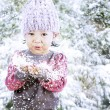 Adorable girl celebrate Christmas — Stockfoto