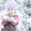 Adorable girl celebrate Christmas — Stock Photo