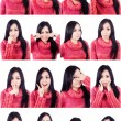 Royalty-Free Stock Photo: Beautiful facial expressions multiple shots