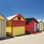 Attractive bathing boxes at Brighton Beach Australia — Stock Photo