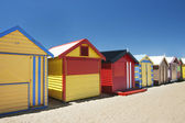 Attractive bathing boxes at Brighton Beach Australia — Stock Photo