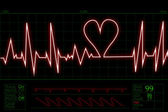 Heart beat pulse — Stock Photo