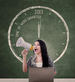Announce 2013 time to work smarter — Stock Photo