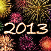 Fireworks 2013 New Year Background — Stock Photo