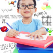 Nerd preschooler study science — Stock Photo #18536679