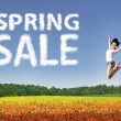 Happy spring sale — Stock Photo
