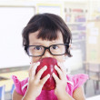 Cute female preschooler — Stock Photo