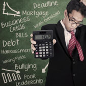Businessman needs help — Stock Photo