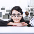 Businesswoman and time — Stock Photo #18568723