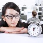 Businesswoman looking at deadline — Stock Photo #18568825