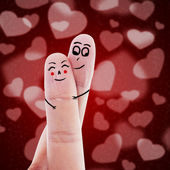Cute finger sign of love — Stock Photo
