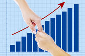 A helping hand on business growth — Stock Photo