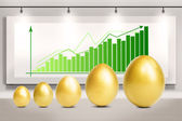 Profit growth eggs chart — Stock Photo