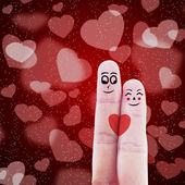 Finger couple valentine design — Stock Photo