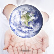 Foto Stock: World in hands