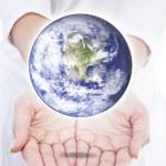 svět v rukou — Stock fotografie