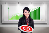 Businesswoman meet target profit sales — Stock Photo