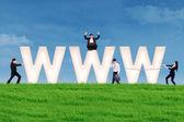 Concepto de la comercialización de internet — Foto de Stock