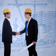 Agreement between two architects — Foto de Stock